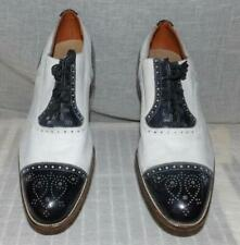 Swing Vtg Orig 50s Mens Black White Eyelet Wing Tip Spectator 2 Tone Shoes 11 M