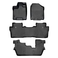 SMARTLINER Custom Fit Floor Mats 3rd Row Liner Black for 2009-2015 Honda Pilot