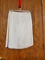 Retro Vanity Fair 1/2  Slip Skirt Ivory Lace Sz L