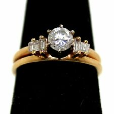 10k Yellow Gold Round Diamond Engagement Ring & Band 3.8G Size 6 (KN1014414)