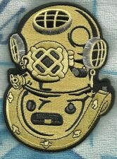 NAVY MARK V 1 ALPHA GOLD DIVER SWIMMER UDT PADI SFG UNDERWATER MILITARY PATCH