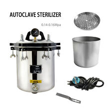 18L Steam Autoclave Sterilizer Tattoo/Dental/instruments for Commercial Use