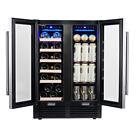 24'' Wine Cooler Refrigerator LED Control Dual Zone Freestanding Fridge Cellar photo