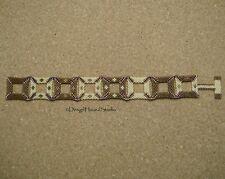 Peyote Bracelet - Handwoven Miyuki Beads - Cognac / Pear - 3D Squares