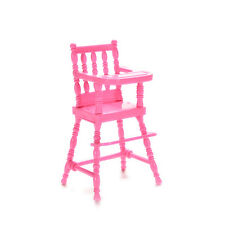 1 X High Chair Doll's House Furniture Play Doll House Toy for Baby Girls SEAU