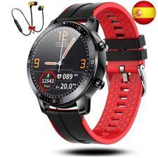 Smartwatch Reloj Inteligente Hombre Mujer Niños Monitor Pulso Cardiaco  (Rojo)