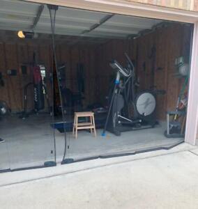 Double Garage Door Screen 16 Ft. W x 7 Ft H Magnetic Closure Weighted Bottom