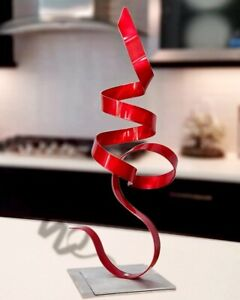 Metal Art Sculpture Modern Red Centerpiece Table Desk Decor Original Jon Allen