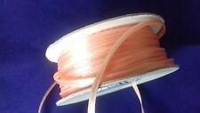 6 metres of 3mm Peach satin ribbon