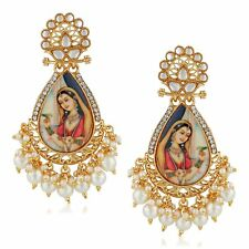 Padmavati Pearl Earrings Free Shipping Jwellmart Indian Bollywood Gold Plated