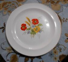 The French Saxon China Co Floral Plate 9 inch 22 K Gold