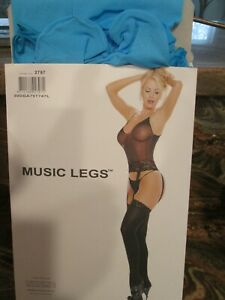 Details about  /New Music Legs 7725 Black Lace Garter Belt With Mini Bows