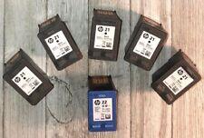 HP virgin ink cartridges lot of 6,C9351A, Black (Five),C9352A, Tri-color (One)