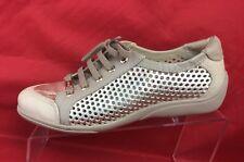 Luz Da Lua Gold Mesh/Net Brazilian Lace Up Shoes Women's Size 7B