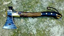 1  AXE, HATCHET TOMAHAWK HAND FORGED WITH BRONZE SKULLS