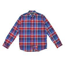 TOMMY HILFIGER Herren Hemd L 52 rot/blau Kariert Vintage Fit Shirt langarm NEU