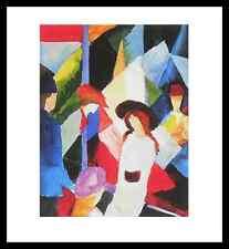 August Macke Schaufenster Poster Bild Kunstdruck im Alu Rahmen schwarz 48x46cm