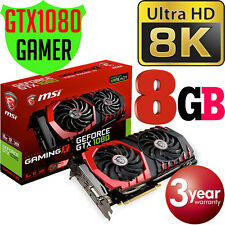 MSI Nvidia GeForce GTX 1080 Gaming X 8GB 8K Graphics Card 4-LCD GTX1080 8G NEW