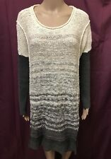 FREE PEOPLE JUMPER SWEATER ~ XS - S ( OVERSIZED ) ~ GREAT COND KNIT DRESS LENGTH