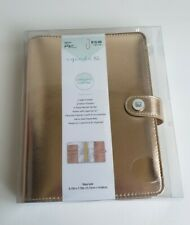 The Paper Studio Agenda 52 Personal Planner 6 Ring Binder Cover In Rose Gold