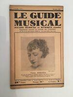 El Guía Musical Suplemento Mensual A de La Concierto Yvonne Boucheze N º 1 1931