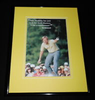 Jack Nicklaus Framed 11x14 Photo Display 1986 Masters