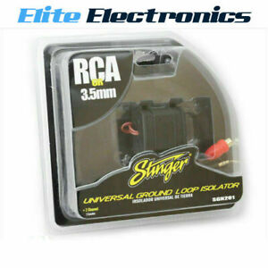 STINGER SGN201 GROUND LOOP ISOLATOR NOISE FILTER RCA FEMALE INPUT MALE SGN20