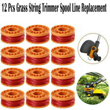 12-Pack 6-PACK WORX WA0010 Replacement Spool Line For Grass Trimmer/Edger,10ft