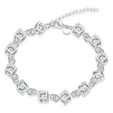 cute hot new Silver NEW Fashion Woman Box Austrian crystal Bracelet Jewelry