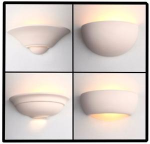 Wall Light Unglazed Uplight Half Oval Crescent Paint Over Ceramic Up Light