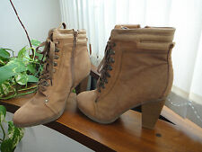 Botines marrones con cordones Marypaz // Marypaz laced up brown ankle boots
