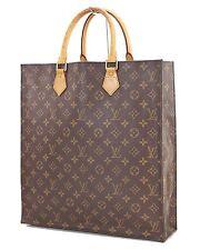 Authentic LOUIS VUITTON Sac Plat Monogram Tote Shopping Bag #27444