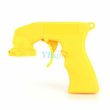 Yellow Auto Aerosol Spray Painting Can Gun Handle Full Grip Trigger Plastic ZY