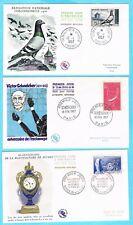 B3053 - FRANCE - 5 Enveloppes 1er Jour de 1957