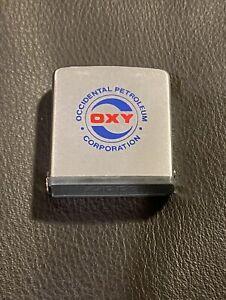 Vintage Zippo Rule Occidental Petroleum Co. Oxy Gas/Oil