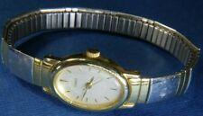 Timex ladies M9 gold & silver tone steel flex band WATCH, fresh battery 9/20 A20