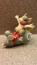 Charming Tails Hand Crafted Mouse Riding A Toy Mouse