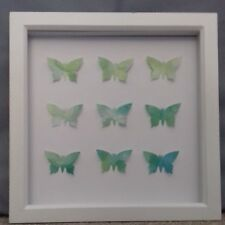 Beautiful Green watercolour butterfly picture hand crafted by Sarah Sample Art