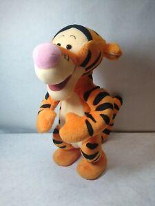 "Mattel Tigger Disney Bouncing 1998 Jumping 12"" Electronic Plush Works Tested"
