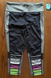 Lularoe Fearless Crop Fitness Athletic Leggings Extra Large XL Beautiful Print