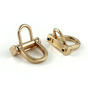 1piece Bag Side Anchor hanger Double D-ring Buckle Leather craft Bag Hardware