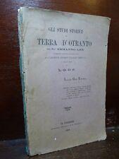 ERMANNO AAR : STUDI STORICI IN TERRA D'OTRANTO - FIRENZE 1888 TAVOLA GENEALOGICA