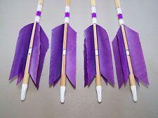 4 New Cedar Wood Traditional long bow archery  Arrows FLU-FLU 50/55