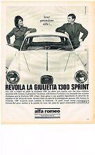 PUBLICITE ADVERTISING  1964   ALFA ROMEO  revoila LA GUILIETTA 1300 SPRINT