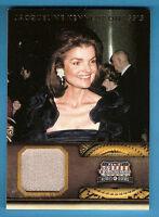 JACQUELINE JACKIE KENNEDY ONASSIS WORN RELIC CARD #d299 FIRST LADY JFK AMERICANA