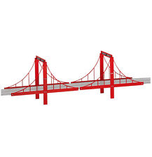 Carrera GO!!! Bridge set accessory for 1/43 slot car track, 4/pcs 61604