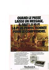 PUBLICITE  1980   TECHNICS    platine & pré ampli