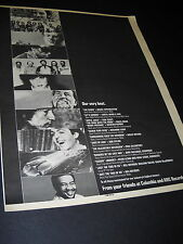EARTH WIND & FIRE Springsteen BOB DYLAN McCartney others 1982 PROMO DISPLAY AD