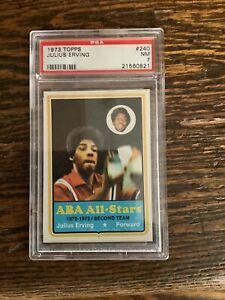1973 topps basketball #240 Julius Erving PSA 7