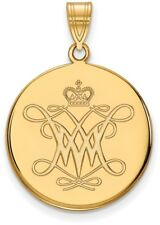 10 Quilates Oro Amarillo William & María Grande Disco Colgante por logoart